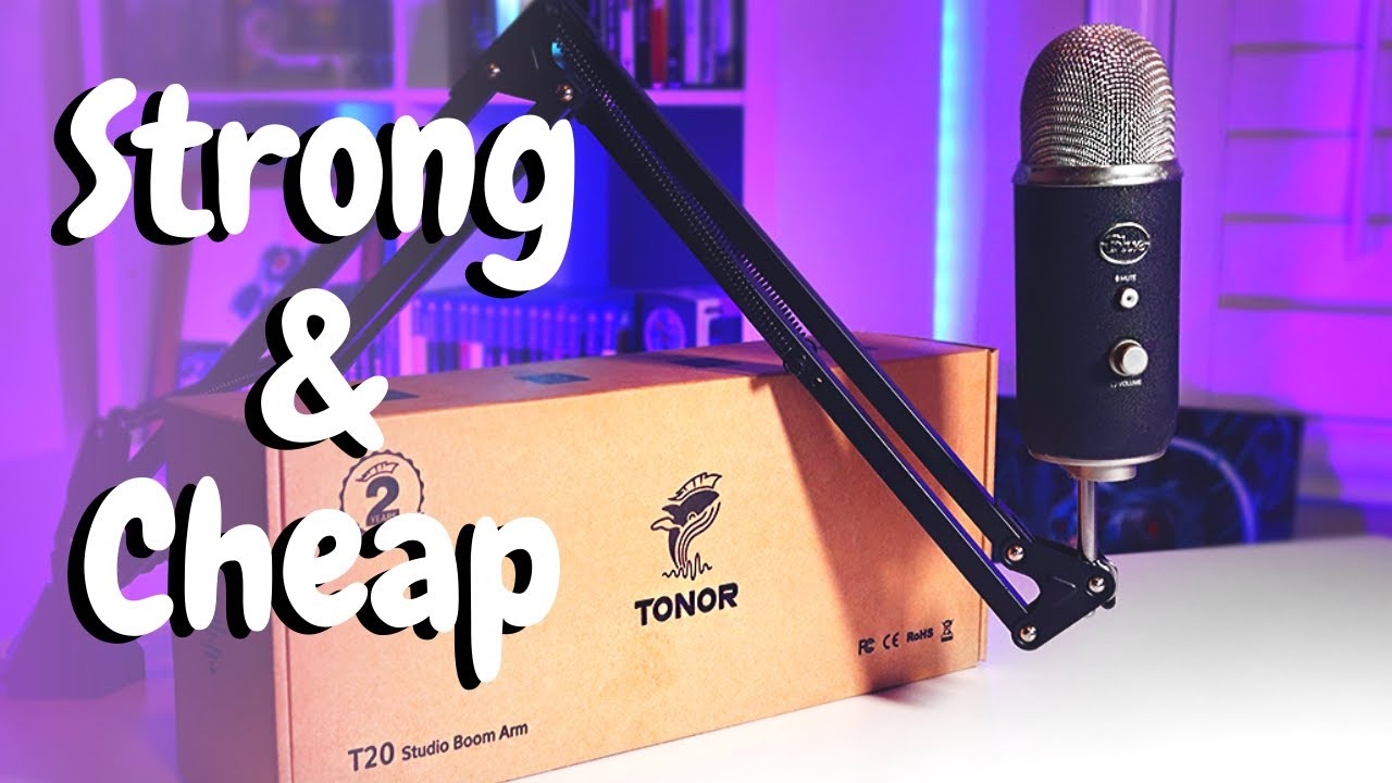 Finally A CHEAP Boom Arm For Heavy Mics - Tonor T20 Boom Arm Review!