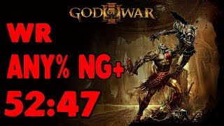 GOD OF WAR 3 - SPEEDRUN ANY% NG+ {52:47} WR