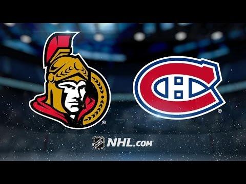 Ottawa Senators Vs. Montreal Canadiens | NHL Game Recap | March 19, 2017