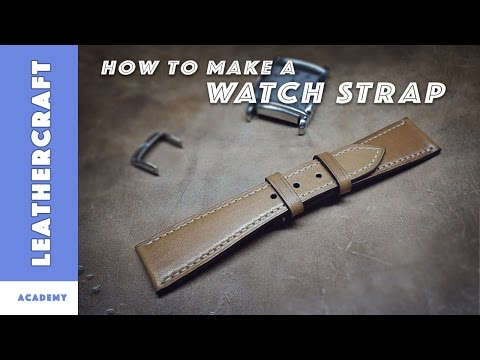 Leather watch strap tutorial/The LeatherCraft Academy/leather craft tutorial