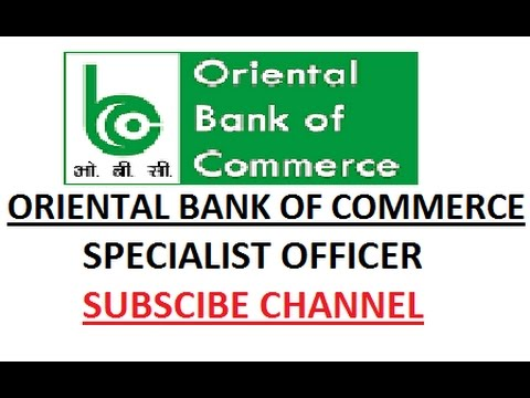 Oriental Bank Of Commerce Recruits Specialist Officer 2017