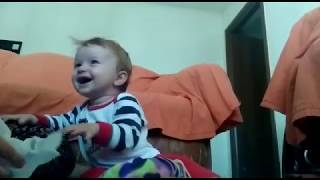 Baby laughing with bag | Funny Baby | Cute Baby Girl