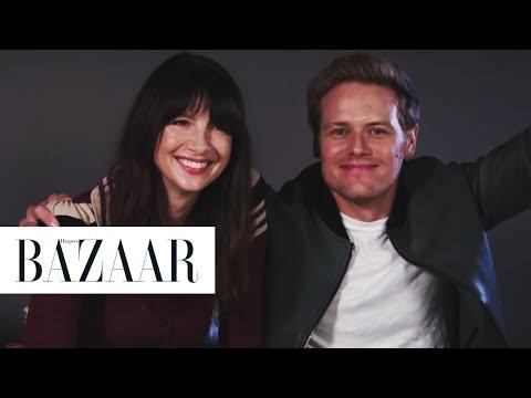 Outlander's Sam Heughan and Caitriona Balfe Read Your Fan Fiction | Harper's BAZAAR