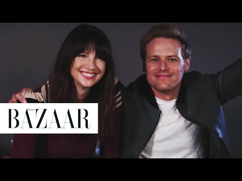 Outlander's Sam Heughan and Caitriona Balfe Read Your  Fiction  Harper's BAZAAR
