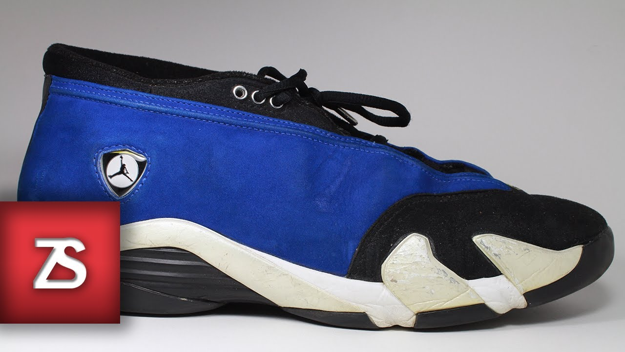 f97effe909c752 OG Jordan XIV 14 - Laney Royal - REVIEW ON FOOT - YouTube