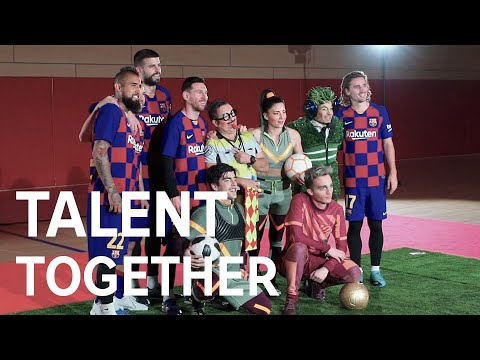 Talent Together | FC Barcelona players and Cirque du Soleil artists