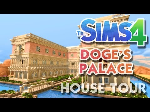 The Sims 4 Doge's Palace - The Floating Palace - House Tour And Gameplay!