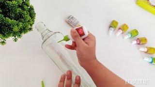 5 Bottle Decoration Ideas | DIY Bottle Art | Simple Glass Bottle Painting Designs | Episode 59