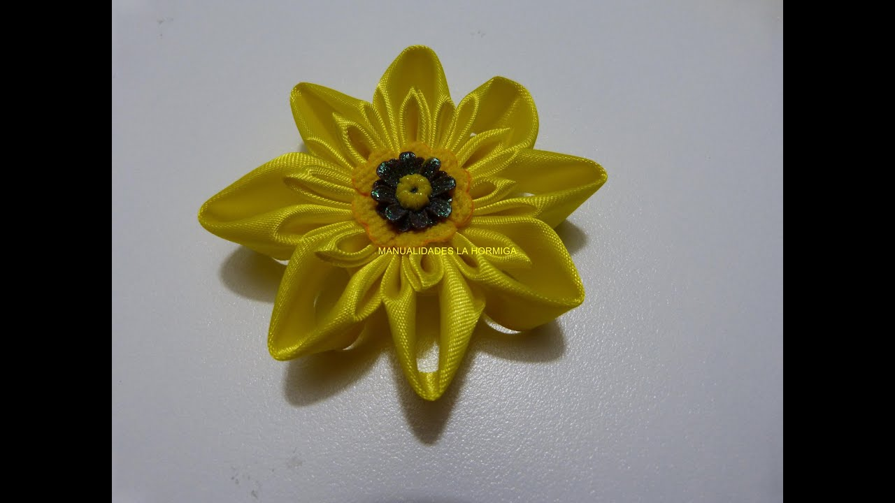 Como hacer flor kanzashi paso a paso beautiful flowers of - Www como hacer flores com ...