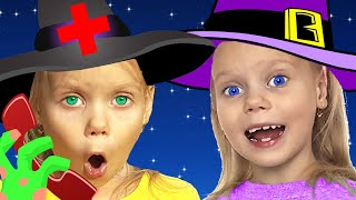 Halloween song | Five Little Witches | Nursery Rhymes For Children | Kids Songs And Videos