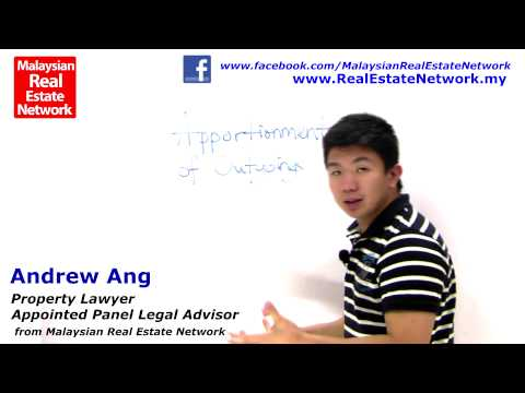 Property Investment Malaysia Legal Tips No 21 - Apportionment of Outgoings