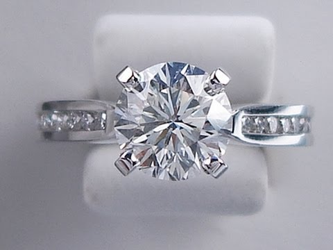 178 ctw LEO Round Cut I VS2 Diamond Engagement Ring
