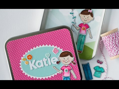 Papertrey Ink New Product Intro: Dress Up Dolls Basics + Magnetic Paper Doll How-to
