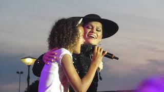 Jessie J - Flashlight with a fan - live Amsterdam NSDM Werf - 3 August 2019 The Lasty Tour