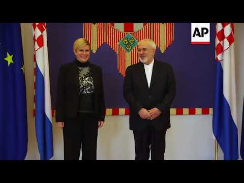 Iranian foreign minister meets Croatian president