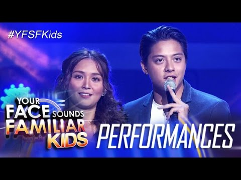 Your Face Sounds Familiar Kids Finale: Kathryn and Daniel sing