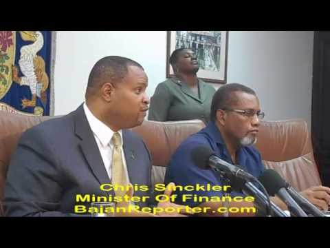 Chris Sinckler and Barbados Media, Q & A #1 (When is Budget?)