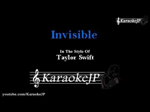 Invisible Karaoke  Taylor Swift