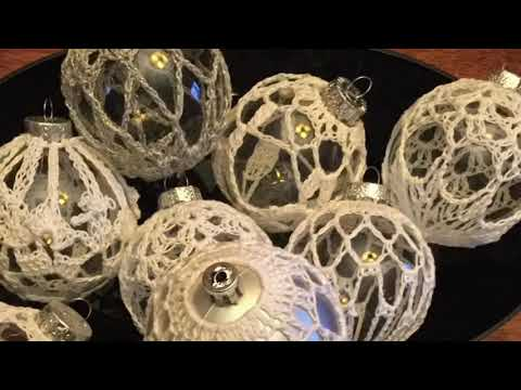 Lace crochet covered ornaments pattern by Kristen stein – diy wedding Christmas Easter centerpiece