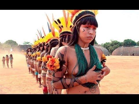 BBC Documentary - Aboriginal Traditional Tribal Ritual, The Girls In Amazon | Amazon Hunting Animals