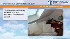 Westerland: 2-Zimmer-Ferienwohnung für 2 Personen mit Meerblick, strandnah - FeWo-direkt.de Video