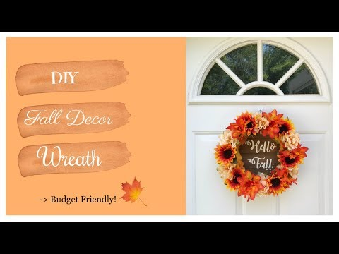 Diy Fall Wreath Hello Fall Kzvdiy Youtube