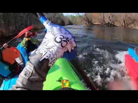 Kayak Race On The Winnipesaukee River In Franklin NH