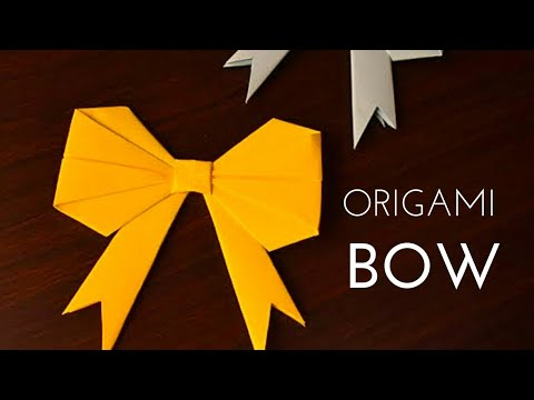 DIY Paper Bow for Gift Box Decoration for New Year | Origami How to fold a Paper Bow | Holiday Craft