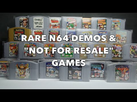Rarest Nintendo 64 Games Of All Time   Most Expensive N64 Games  N64     Rarest Nintendo 64 Games Of All Time   Most Expensive N64 Games  N64 NFR  Not For Resale   YouTube