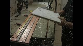 Чистовая обработка фрезером торца панели