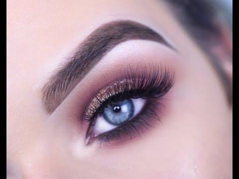 NYX WARM NEUTRALS ULTIMATE EYESHADOW PALETTE | Eye Makeup Tutorial