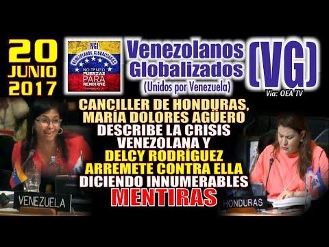 OEA - Canciller de Honduras describe la situación venezolana y Delcy Rodríguez ARREMETE con mentiras