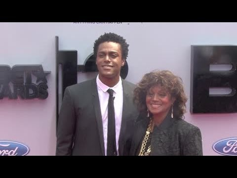 REBBIE JACKSON and son AUSTIN BROWN arrive at BET Awards