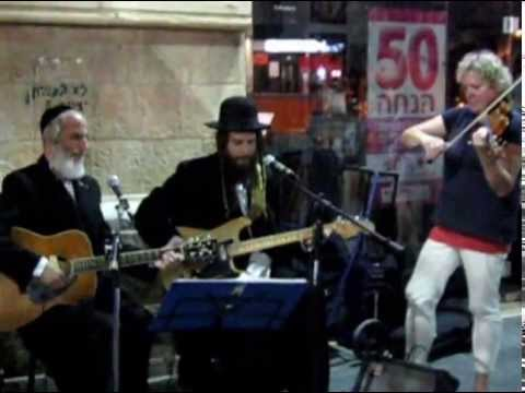 A Jerusalem Street Jam  - 2 Very Hip Breslover Chassidim, Play Electric & Acoustic Guitars