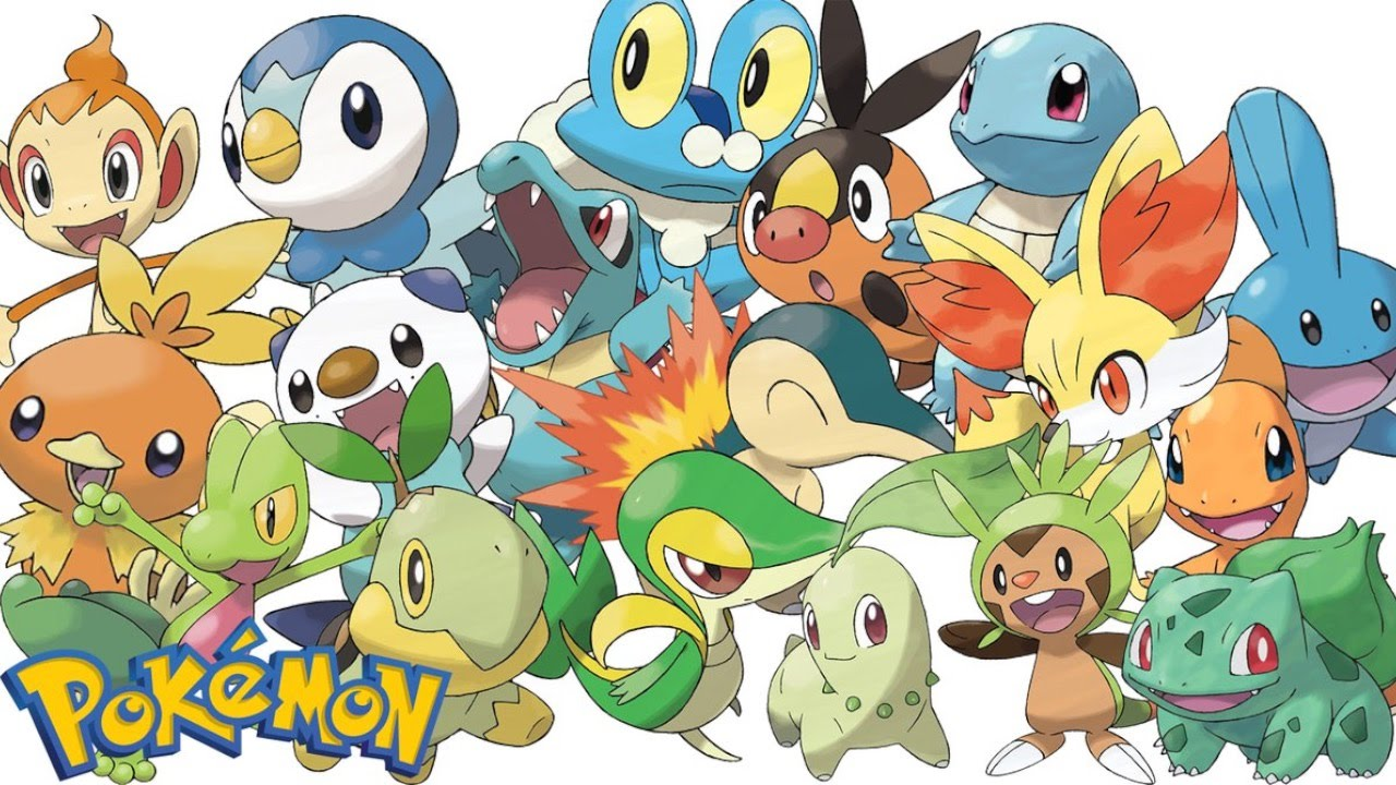 Top 10 starter pok mon youtube - Starter pokemon blanc ...