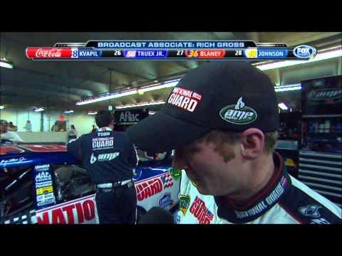 Dale Earnhardt Jr post race interview at Coca Cola 600 w/ Dueling der ders