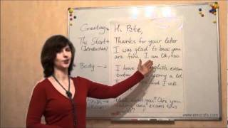 Письмо (ЗНО, английский): Как писать письма, видеоурок(1)