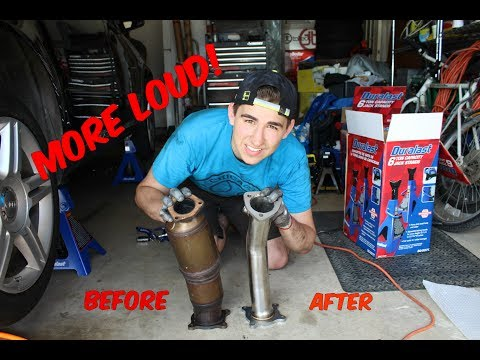 Test Pipe Install | Cat Delete on 2008 Audi A4 B7 *First Mod*