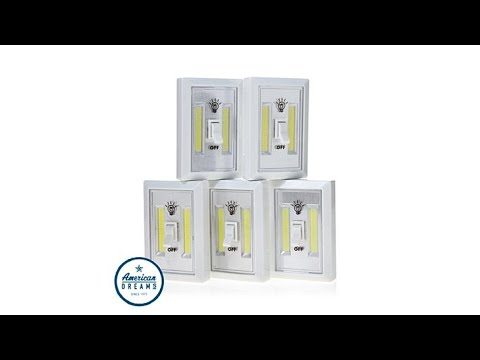 Promier Cob Led Wireless Light Switch 5pack Youtube