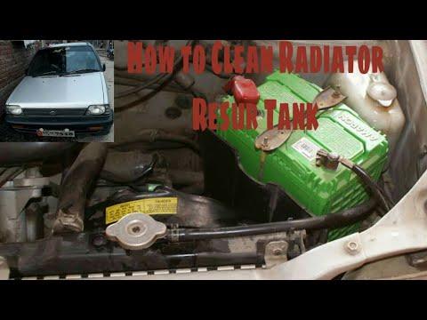 How to clean radiator resur tank maruti 800-in hindi