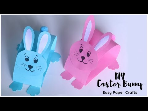 how-to-make-easter-bunny-|-easy-paper-crafts-for-kids-|-paper-rabbit-easy
