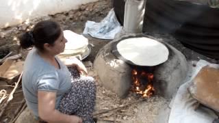 Yufka ekmek yapılışı Çorumlular