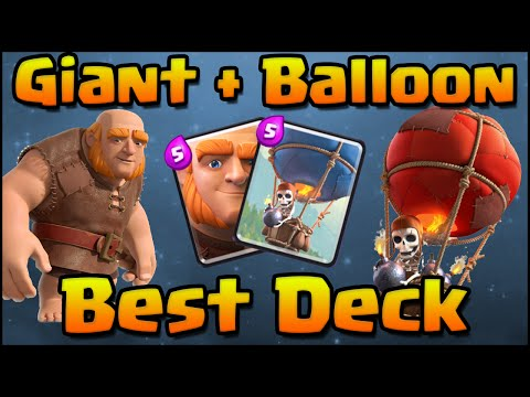 Clash Royale - Best Giant + Balloon Combo Deck and Attack Strategy for ...
