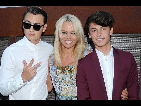 Pamela Anderson shows off her gorgeous grown up sons on the red carpet thumbnail