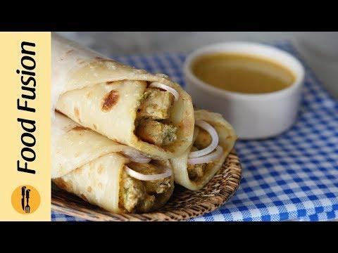 Chicken Chutney Paratha Roll Recipe By Food Fusion
