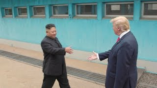 President Trump meets Chairman Kim at the DMZ