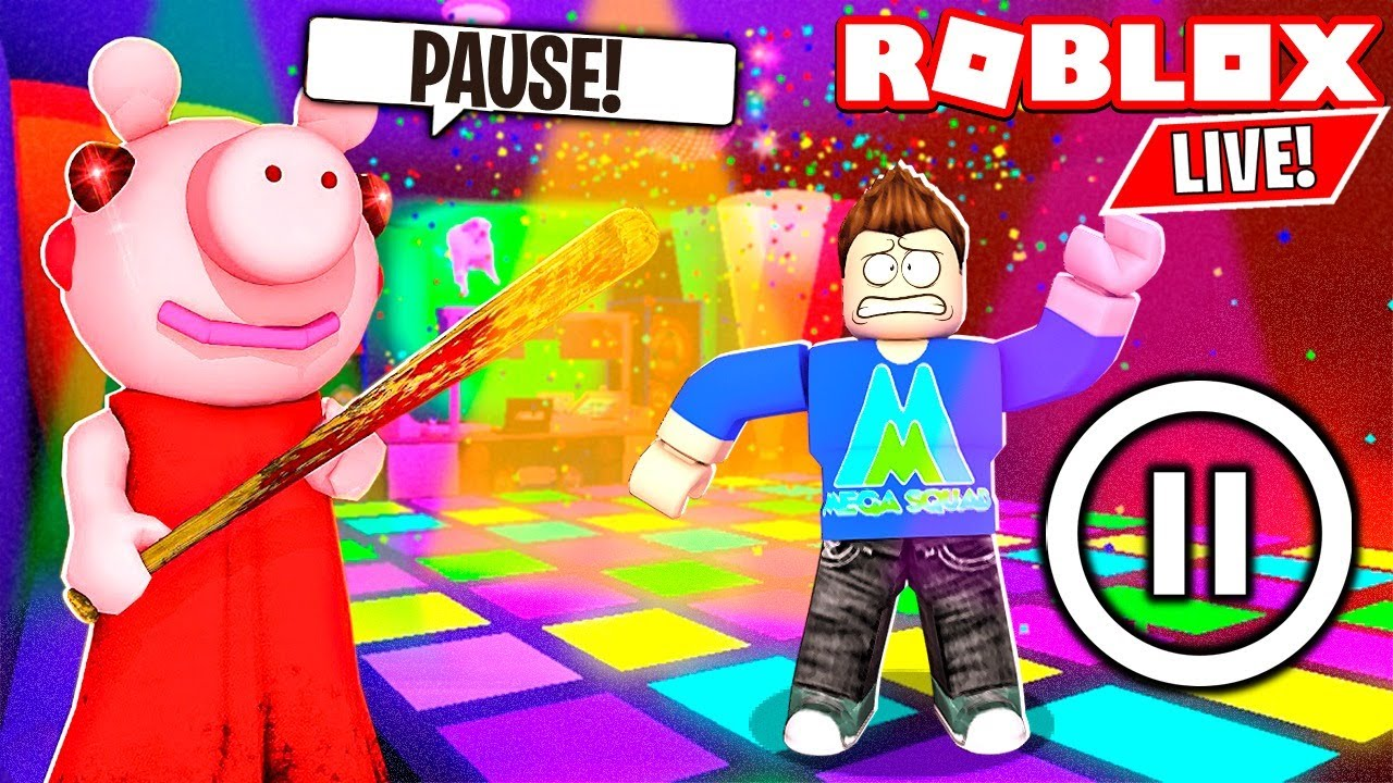🔴 ROBLOX PIGGY and GUESTY PAUSE CHALLENGE! Roblox Live