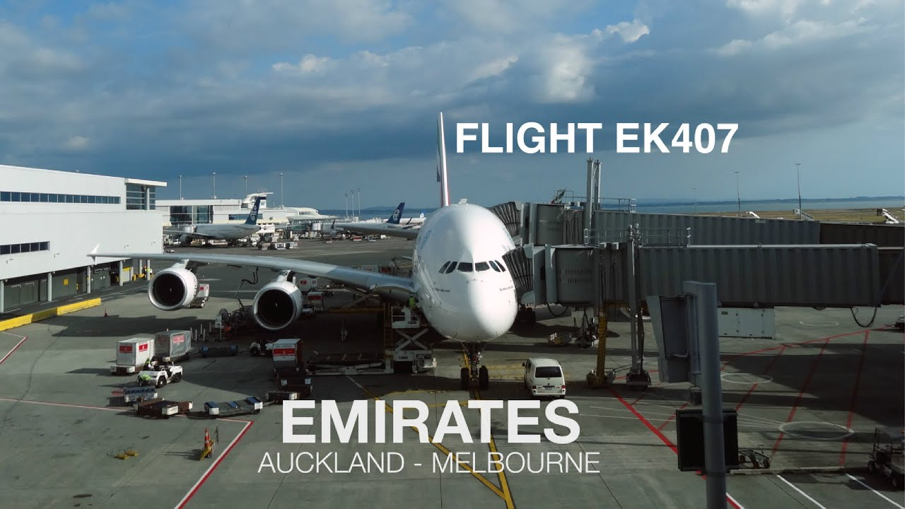emirates a380 auckland to melbourne fight report youtube. Black Bedroom Furniture Sets. Home Design Ideas