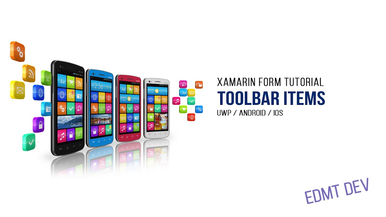 how to add items on toolbar