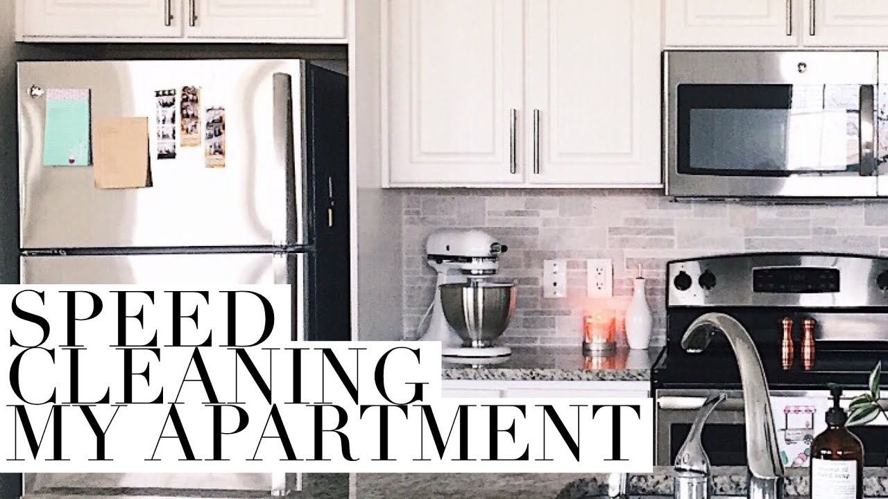 CLEAN WITH ME! | SPEED CLEANING MY APARTMENT! - YouTube